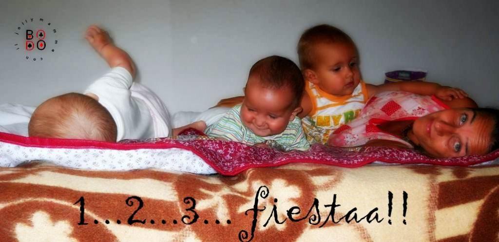 bimbi sul letto