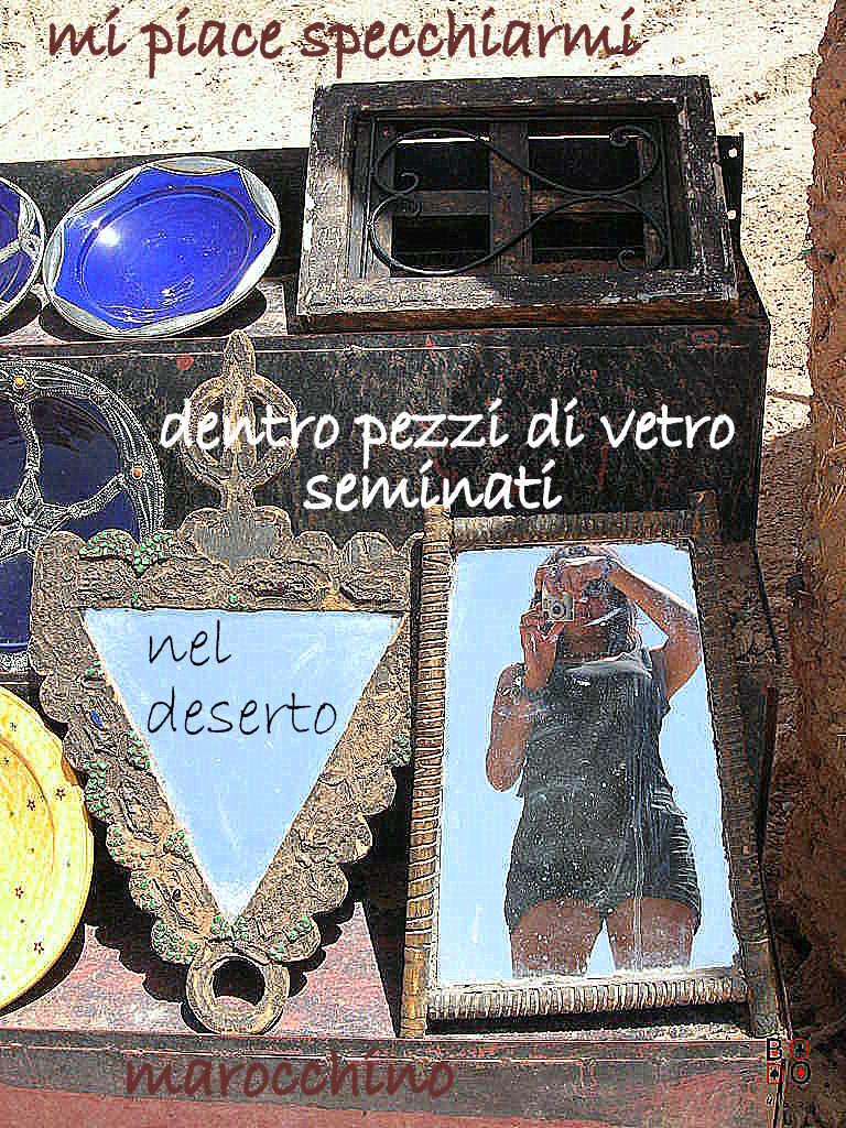 foto allo specchio, marocco