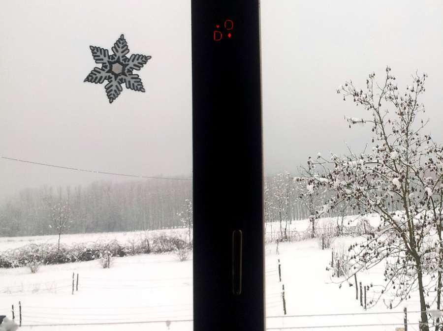 neve dalla finestra