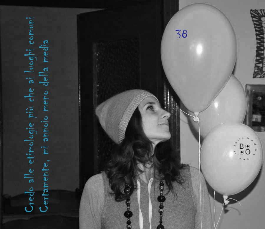 donna con palloncini