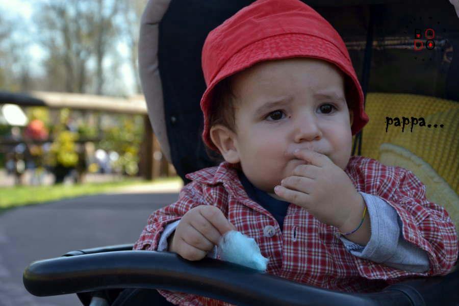 bimbi che mangia lo zucchero filato