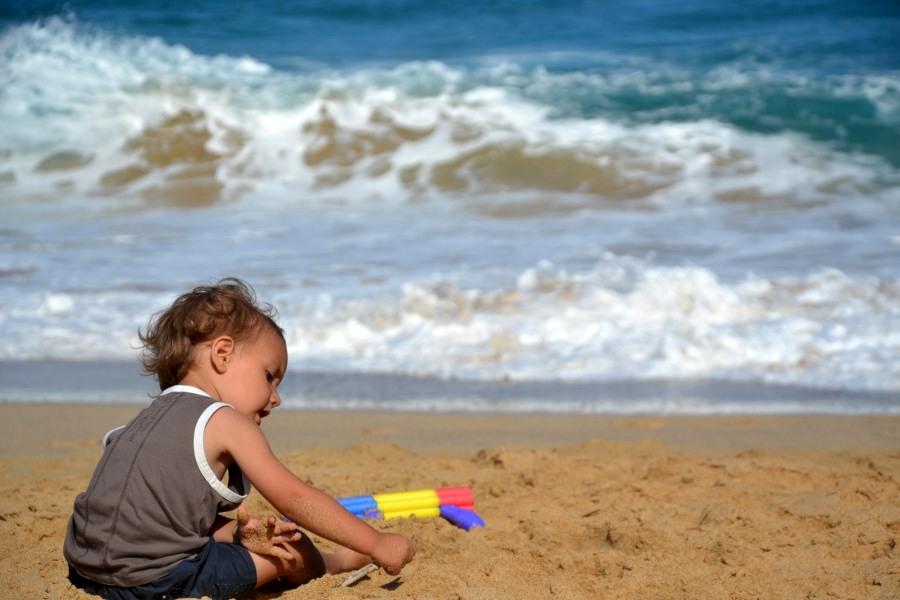 sulla spiaggia a fuerteventuraa