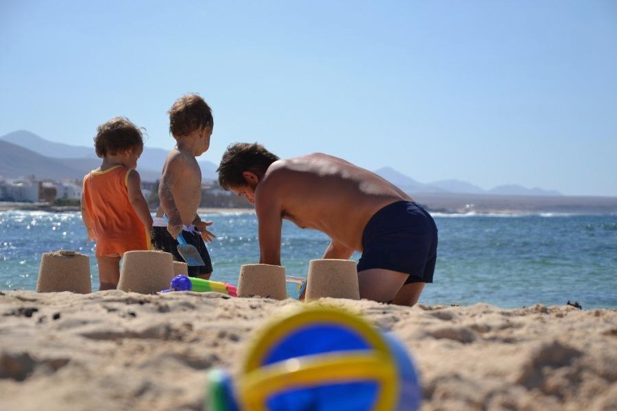 ulla spiaggia a fuerteventura